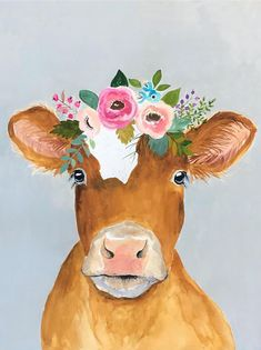 Cow painting This is my original oil painting. The colors are rich and vibrant. Watercolor Animals, Watercolor Art, Painting Inspiration, Art Inspo, Cow Art, Illustrations, Cow Illustration, Painting & Drawing, Original Paintings