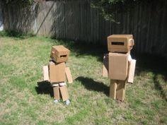 Cardboard robot.