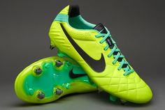 Nike Football Boots - Nike Tiempo Legend IV SG Pro - Soft Ground - Soccer Cleats - Volt-Green Glow