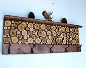 Wood Slice Wall Art Sculpture 12x36 Made To Order. $175.00, via Etsy.