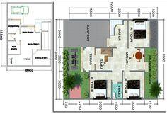 Denah Rumah Modern 4 Kamar Tidur - Rumah Minimalis