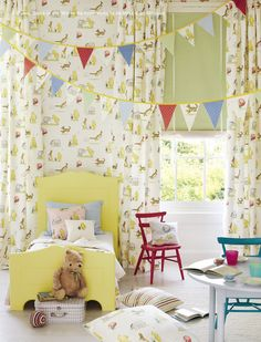 Fabrics and wallpaper from the Nursery Tales Collection at Jane Churchill