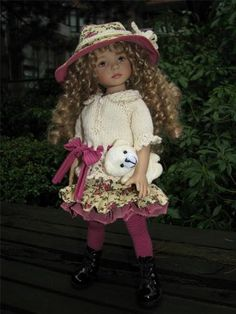"""Roses and Cream by Tuula Fits 13"""" Dianna Effner Little Darling to A """"T"""" 