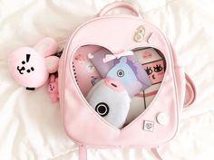 Aesthetic Bags, Kpop Aesthetic, Pink Aesthetic, Aesthetic Bedroom, Mochila Kpop, Mochila Adidas, Bts Bag, Army Room Decor, Mochila Jansport