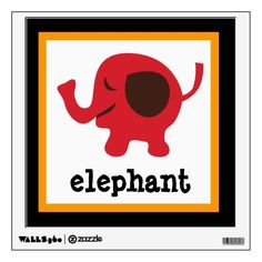Cute Elephant Zoo Animals Nursery Kids Wall Decal