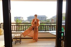 What happens in Bali goes to Instagram. Looking like an old lesbian! . no no no no looking like an old freak. #me #michaeldismuke #bathrobe #colourful #colorful #red #sky #balcony #pray #prayer #lesbian #old #weird #freak #oddball #travel #traveler #traveler #traveling #travelgram #bali #indonesia by michaeldismuke