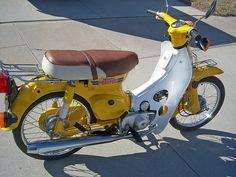 click to enlarge Vintage Honda Motorcycles, Honda Passport, Honda Cub, Motorbikes, Cubs, Bicycles, Vehicles, Street, Classic