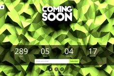 Check out LowPoly - Coming Soon Template by Angelo Studio on Creative Market 17 Day, Ui Kit, Coming Soon, Templates, Studio, Creative, Check, Stencils, Vorlage