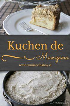 El kuchen de manzana con mkuchen de migas igas es mi favorito, una receta tradicional del sur de Chile en una versión más sencilla y fácil.