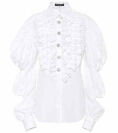 Embellished cotton blouse | Dolce & Gabbana