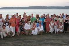 Our wedding party and guests Church Wedding, Our Wedding, Destination Wedding, Affordable Beach Vacations, Travel Deals, Costa Rica, Cover Up, Bride, Party