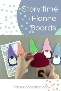 These sweet little gnomes are such a cute way to reinforce early math concepts like colors and counting. Great for any circle time or story time! #flannelboardfun #preschool #circletime #storytime #library