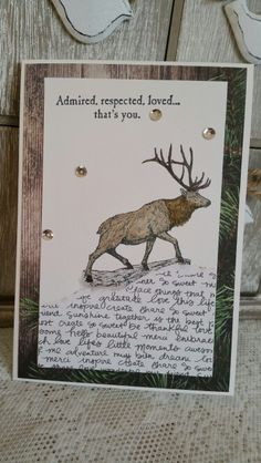 The wilderness awaits by Stampin Up. Designed by The Paper Haven.  #male card #masculine #birthday #nature