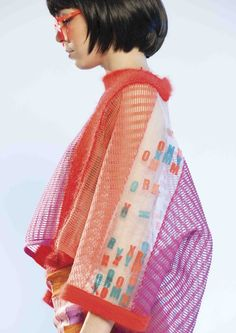 Camille Hardwick - S 15 Knitwear Fashion, Knit Fashion, Fashion Art, Fashion Show, Fashion Design, Looks Street Style, Fabric Manipulation, Mode Inspiration, Missoni