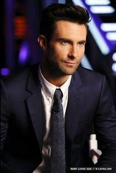 Adam Levine. In a SUIT.