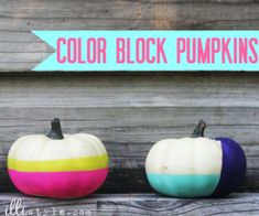 Color Block Pumpkins - illistyle.com