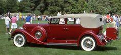 1934 Packard Super Eight convertible sedan. I'm not a car person but this car has my heart! <3