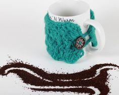 crochet coffee mug sleeve - for sale on etsy... not a pattern