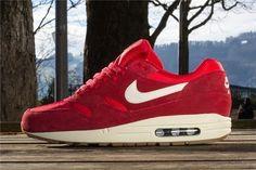 buy popular 9a3f2 6497e Barato Nike Air Max 1 Blanco Zapatillas Deportivas Rojo Rebajas Hombres, Air  Max 1,