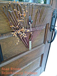 Rake Wreath  #wreath #fall