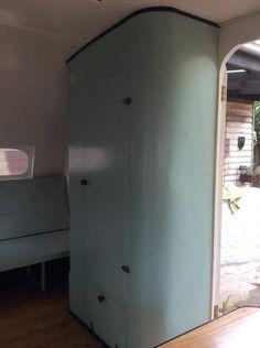 Vintage Caravan Interiors, Tall Cabinet Storage, Locker Storage, Lockers, Furniture, Home Decor, Homemade Home Decor, Safe Deposit Box, Home Furnishings