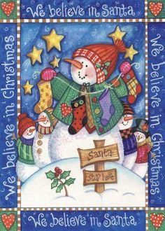 Debra Jordan Bryan - We Believe In Santa - Fine Art Print