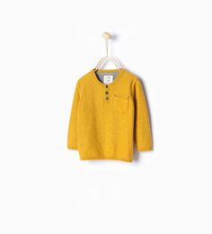 Image 1 of Basic button collar sweater from Zara