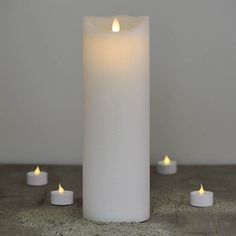 Sirius Sara Exclusive Remote Control LED White Wax Candle - from Lighting Direct. Delivered direct to your door - Buy online today Candle Wax, Pillar Candles, Sirius, Bougie Led, Direct Lighting, Fairy Lights, Christmas Lights, Remote, Distance