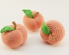 1 Pcs Crochet artichoke teether teeth play by RainbowHappiness