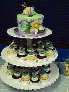 Princess & the Frog cupcakes & cake!
