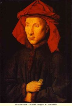 Jan van Eyck. Giovanni Arnolfini. 1434. Oil on wood. Staatliche Museen zu Berlin, Gemaldegalerie, Berlin, Germany