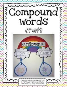 Compound Words Craft - Miss Kindergarten Love - TeachersPayTeachers.com