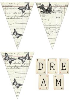 Free Dream printable cottage style