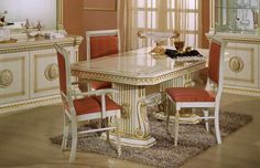 Modrest Rossella Italian Classic Beige Rectangular Dining Table VGACROSELLA-DT-1Product :13724Feature :Rectangular dining tableGolden Roman accentsBeautiful gloss textureSturdy ConstructionFeatures a strict Italian originDimension :Dining Table : W73
