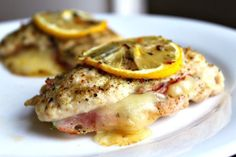 The Easiest Lemon Chicken Cordon Blue - uses chicken breasts, looks awesome, doing this tomorrow!!