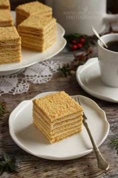 Pastry Recipes, Baking Recipes, Cake Recipes, Dessert Recipes, Hungarian Recipes, Russian Recipes, Vanilla Shop, Russian Honey Cake, Food Cakes
