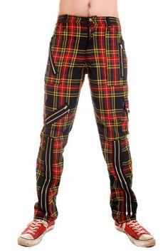 NEW - Original 15 Zip Bondage Pants (Cotton Blend) by Tiger Of London- Multi Plaid #cottonbondagemayhem
