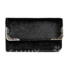 $8.51 Retro Style Women's Clutch With Faux Fur and Metal Design