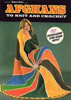 $8.00 Vintage Knitting and Crochet Booklet Afghans