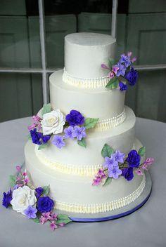 Purple 4 tier italian buttercream wedding Cake by Sweet Fix, via Flickr