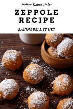 Easy Zeppole Recipe, Zeppoli Recipe, Zeppole Recipe Without Ricotta, Donut Recipes, Tea Recipes, Dessert Recipes, Desserts, Yummy Recipes, Italian Donuts