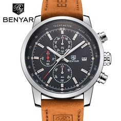 Montre homme luxe BENYAR avec Chronograph Quartz #montre #chronograph #cadeau #acheter Tailor Made Suits, Sports Shops, Watch Brands, Quartz Watch, Fashion Watches, Luxury Branding, Chronograph, Watches For Men, Military