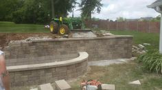 Tandem Wall by #belgard going up in Springfield,MO.