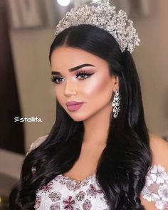 wedding makeup – Hair and beauty tips, tricks and tutorials Quinceanera Hairstyles, Wedding Hairstyles, Makeup Trends, Makeup Ideas, Makeup Tips, Beauty Make-up, Hair Beauty, Fashion Beauty, Bridal Make Up