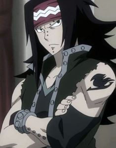 Meet Gajeel one of the newest characters in Fairy Tail but if you watched all the seasons he is not that new anymore but he was a villain before now he's on the good side helping Fairy Tail. Fairy Tail Fotos, Art Fairy Tail, Image Fairy Tail, Anime Fairy Tail, Natsu Fairy Tail, Fairy Tail Guild, Fairy Tales, Gajeel Et Levy, Fairy Tail Dragon Slayer