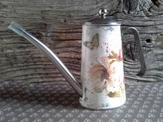 Watering can Decoupage watering can metal watering by Malikdesign