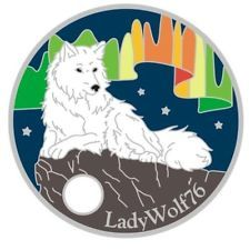 New ~ Northern Lights Wolf  - Pathtag #37240