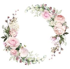 Flower Background Wallpaper, Flower Backgrounds, Flower Frame, Flower Art, Wedding Cards, Wedding Invitations, Decoupage Paper, Floral Border, Watercolor Flowers