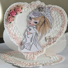 Bettina here and seems like I am the first to go showcasing our new and fabolous Bride of May challenge. I made a WOW heart shaped weddin. Congratulations On Marriage, East Wind, Heart Shapes, Snow Globes, Challenges, Paper Crafts, Princess Zelda, Bride, Room