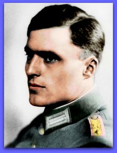 "Colonel Claus Philipp Maria Graf Von Stauffenberg. A leading conspirator in the 20th July Bomb Plot to assassinate Adolf Hitler at his Field HQ ""Wolfschanze"" in East Prussia. The coup failed and Stauffenberg and some of his fellow conspirators were executed in the courtyard of the Bendlerbock in Berlin Mitte in the early hours of 21st July 1944. photo Colourised by Pearse"